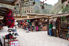 Souvenir Market in Peru Royalty Free Stock Image