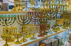 The souvenir menorahs Stock Photography