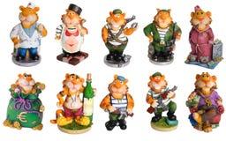 Souvenir militaire heureux de décor de tigre Images libres de droits