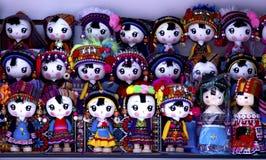Souvenir miniature dolls from Yunnan stock photos