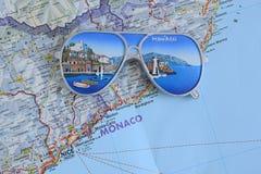 Souvenir from Monaco. On the map Stock Photos