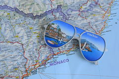 Souvenir from Monaco. On the map Stock Photography