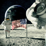 Souvenir  from  moon 3d illustration Royalty Free Stock Photos