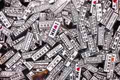 Souvenir novelty magnets at a Hong Kong street market Royalty Free Stock Image
