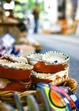 Souvenir olive bowls Royalty Free Stock Image