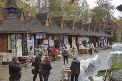 Souvenir outdoor market  in Yaremche, Ukraine Royalty Free Stock Image