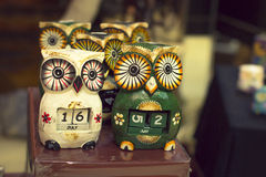 Souvenir owl in Torrevieja. Souvenir owl-calendar tourist shop in Torrevieja, Valencia, Spain Stock Photos