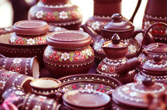 Souvenir painting pots Royalty Free Stock Photos