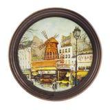 Souvenir from Paris a plate Royalty Free Stock Photos