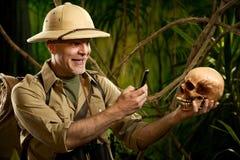 Souvenir photograph in the jungle Stock Photography