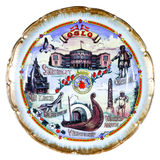 Souvenir plate depicting the Oslo Stock Photo