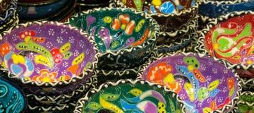 Souvenir plates from Asia Royalty Free Stock Photos