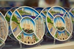 Souvenir plates Torrevieja Stock Images