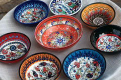 Souvenir plates Royalty Free Stock Images