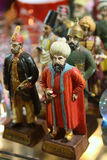 Souvenir porcelain figurines. Of the sultans of the Ottoman Empire Royalty Free Stock Photos