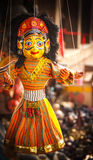 Souvenir Puppets hanging in the street of Nepal Royalty Free Stock Images