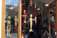 Souvenir Puppets, Prague. Royalty Free Stock Photo