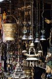 Souvenir religious items in the shop of Kathmandu, Nepal ,Asia royalty free stock photo