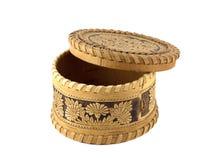 Souvenir russe. Écorce de cadre de bijou d'un arbre Image stock
