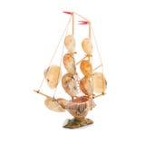 Souvenir, sailing vessel from cockleshells.2 Stock Photos