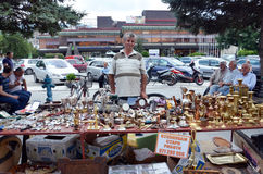 Souvenir seller in Bitola Royalty Free Stock Images