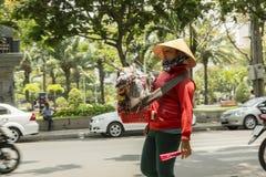 Souvenir seller in Vietnam Stock Photography