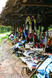 Souvenir shop. Sell scarf at national park in Thailand Royalty Free Stock Photography
