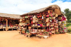 Souvenir shop along the road in Africa Royalty Free Stock Photo