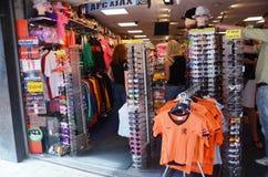 Souvenir shop in Amsterdam stock images