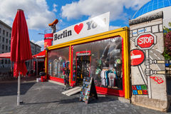 Souvenir shop in Berlin, Germany Stock Images