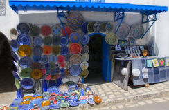 Souvenir shop in the city of Tunis Stock Image