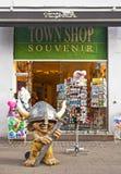 Souvenir Shop. COPENHAGEN, DENMARK - JULY 1: Souvenir Shop at the main street on July 1, 2014 in Copenhagen Royalty Free Stock Photo