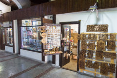 Souvenir shop in the covered bridge in Lovech, Bulgaria royalty free stock photos
