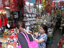 Souvenir Shop Details, Chinatown,  Binondo, Manila Stock Images