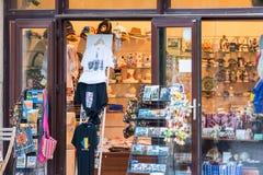 Souvenir Shop Downtown Bucharest Stock Image