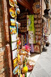 Souvenir shop. Entrance of an souvenir shop in San Gimignano, Italy Stock Images