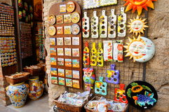 Souvenir shop. Entrance of an souvenir shop in Tuscany, Italy Stock Image
