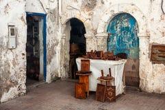 Souvenir shop in Essaouira Royalty Free Stock Images