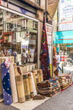 Souvenir shop and ethnic clothes in the tourist area of Istambul Turkey Stock Photo