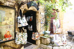 Souvenir shop in Eze Stock Image