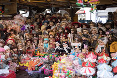 Souvenir shop at famous Havels Market in first week of Advent in Christmas Royalty Free Stock Image