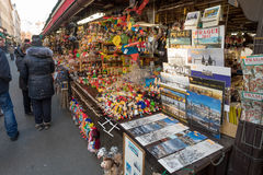 Souvenir shop at famous Havels Market in first week of Advent in Christmas Stock Photo