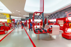 Souvenir shop in Ferrari World Royalty Free Stock Photography