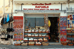 Souvenir shop, Greece Stock Photos