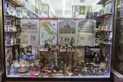 Souvenir shop in the historical center of Rome, Italy Royalty Free Stock Photos