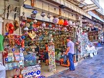 Souvenir shop in historical centre of Antalya, Turkey Stock Photos