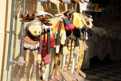 Souvenir shop. Image of the souvenir shop on the city street Stock Images