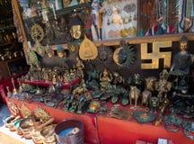 Souvenir shop in India Stock Images