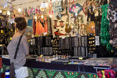 Souvenir shop and jewelery in Rome Stock Image