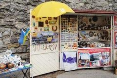 Souvenir shop at Kamianets-Podilskyi, Ukraine Royalty Free Stock Photos